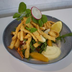 Salt & Pepper Calamari Salad
